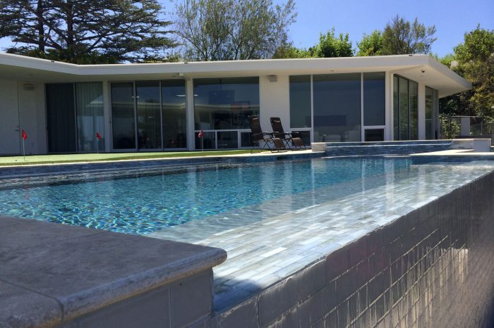 luxury pool view designed by coastal aquatic creations at encinio