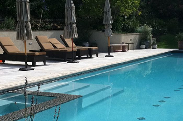 outdoor cleanline pool designed by coastal aquatic creations at santa monica