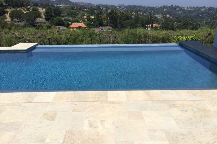 infinity pools designed by coastal aquatic creations at encino