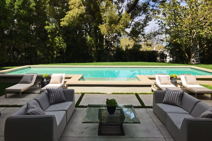 outdoor pool view by coastal aquatic creations at encino