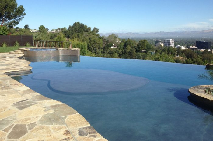 freeform pools designed by coastal aquatic creations at encino